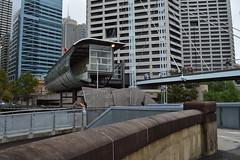 "Remnant of the ""Darling Park"" monorail station below Sydney CBD on Pyrmont Bridge - Darling Harbour - Autumn in the rain 2017 (nicephotog) Tags: monorail station sydney cbd nsw darling park harbour pyrmont bridge walkway"