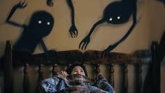 237/365 Night Terrors (Katrina Y) Tags: sleep disorder surreal surrealphotography bed fear selfportrait 2017 365 project throughherlens artsy art artistic dark monster shadow mood manipulation