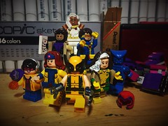 PREVIOUSLY, ON X-MEN  . . . (LordAllo) Tags: lego xmen the animated series marvel jubilee jean grey wolverine rogue beast gambit cyclops storm