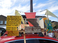 Bob and Roberta Smith, Vauxhall Art Car Boot Fair (2014) (Paul-M-Wright) Tags: brick london art car yard boot artist patrick bob smith fair lane artists brill e1 roberta vauxhall 2014