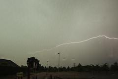 lightning from car (a77ard) Tags: sky cloud storm holland art netherlands clouds digital canon boer photography europe nederland thenetherlands lightning 8mm wandering thunder allard lightningtrigger 450d canon450d allardboer a77ard