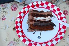 Sweet Morning to You! (ineedathis, Everyday I get up, it's a great day!) Tags: cake baking chocolate ganache fathersday truffle devilsfood sliceofcake chocolatebuttercream nikond80 cannolicream