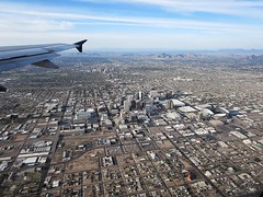 Phoenix (kenjet) Tags: city arizona phoenix buildings inflight downtown view aerial phx viewfromwindow