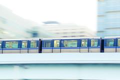 Yurikamome - train through Odaiba (karebear_stare) Tags: tourism japan train tokyo tracks odaiba