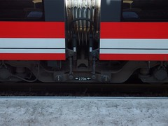 Found Train Face (mkorsakov) Tags: red rot lines train zug bahnhof foundface hbf mnster
