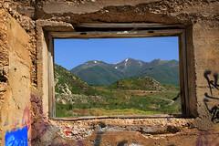 View to Disaster (arbyreed) Tags: abandoned window sandstone cityhall basement forgotten landslide ghosttown stonefoundation arbyreed thistleghosttown windowwednesdays
