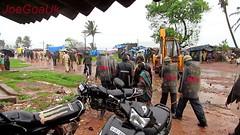 Baina beach slums demolition (joegoauk73) Tags: goa huts vasco slum crz joegoauk