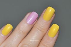 Chanel - Lilac Sky & Mimosa (sansa-beauty) Tags: yellow more lilac nailpolish mimosa chanel shimmer vernis lilacsky chanelnailpolish nailswatch chanellevernis chanelmimosa chanelswatch chanellilacsky