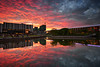 Fire in the sky! (fiz_zero) Tags: world sky art nature water clouds buildings reflections asian fire landscapes nikon asia skies awesome sigma malaysia colourful selangor shahalam sigma1020mm sigma1020 singhray leefilter reversegnd nikond7100