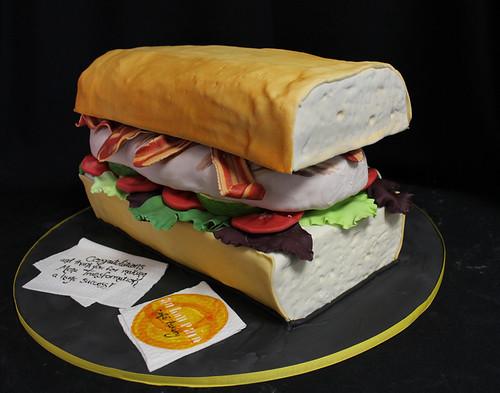 Au Bon Pain sandwich cake