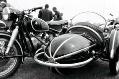 Torpedo (G.J.E) Tags: uk 35mm canon f1 motorbike bmw ilford fp4 sidecar classicmotorbike 2014 f20 emmagreen