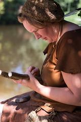 making a fish-spear (hans s) Tags: archeon prehistoric 2014