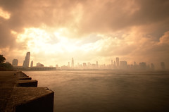 Chicago - Heaven or Hell? (Crux_VII) Tags: city longexposure lake chicago fog skyline cityscape michagan ndfilter