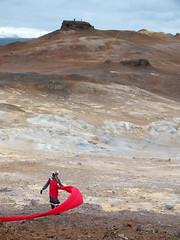 Mythical creature (LeelooDallas) Tags: summer cloud rock landscape iceland europe fuji dana ridge finepix geothermal hs20 nmafjall exr hverir iwachow