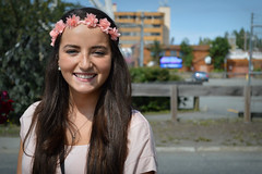 Miss M [#1 of 100 Strangers Project] (Luv Duck - Thanks for 15M Views!) Tags: cute smile youth 1 pretty young brunette carefree headband flowersinherhair 100strangers