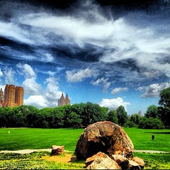 Cloudy With a Chance of Rain, CP/NYC (damaris.reda) Tags: nyc urban green nature grass rock buildings centralpark meadow