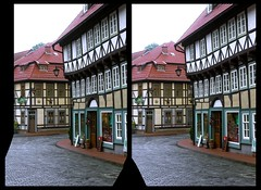 Stolberg in the Harz Mountains 3D ::: DRi Cross-View Stereoscopy (Stereotron) Tags: 3d 3dphoto 3dstereo 3rddimension spatial stereo stereo3d stereophoto stereophotography stereoscopic stereoscopy stereotron threedimensional stereoview stereophotomaker stereophotograph 3dpicture 3dglasses 3dimage crosseye crosseyed crossview xview cross eye pair freeview sidebyside sbs kreuzblick canon eos 550d chacha singlelens kitlens 1855mm tonemapping hdr hdri raw cr2 europe germany sachsenanhalt saxonyanhalt harz mountains gebirge stolberg quietearth architecture fachwerk halftimbered house stud work antiquated ancient medieval middleages deutschefachwerkstrase mittelalter ostfalen ostfalia hardt hart hercynia harzgau 100v10f