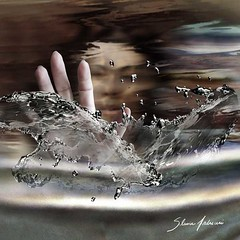 Strong emotions are like storms... (Silvia Andreasi (Images Beyond Mirror)) Tags: light woman lake blur art water face photomanipulation hands whimsy waves underwater bright surrealism fantasy forgotten squareformat ethereal mystical splash submerged mystic whimsical dreamscape conceptualphotography whimsicalphotography imagesbeyondmirror silviaandreasi