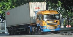 Scania P400 (Waverly Fan) Tags: port truck gateway psa inter haulage huationg