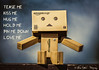 Tease me! (William Matthews Photography) Tags: toy toys amazon nikon bokeh cardboard figure yotsuba danbo revoltech danboard nikond610