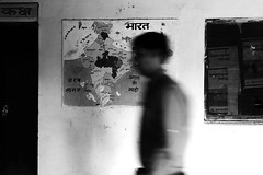 India (gajendrapalchoudhary) Tags: street travel people india blur map indian