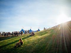 Ilosaarirock 2014 (miemo) Tags: travel summer people music sunlight grass festival rock finland europe live hill crowd olympus tent flare joensuu ep1 ilosaarirock pohjoiskarjala northkarelia bodycaplens olympus15mmf8 tähtitelttta ilosaarirock2014
