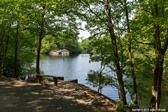 Bench by Heron Pond (jvradelis) Tags: statepark park usa bench landscape ma outdoors us pond unitedstates massachusetts parkbench hingham publicland stateland heronpond wompatuckstatepark