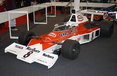 1974 MCLAREN M23B - Race Retro 2014, Stoneleigh Park (anorakin) Tags: 1974 grandprix mclaren formula1 marlborough emersonfittipaldi stoneleighpark raceretro mclarenm23 mclarenm23b