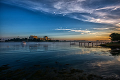 Early morning view from causeway facing Kittery Maine in New Castle NH (ToddAPage-photography) Tags: