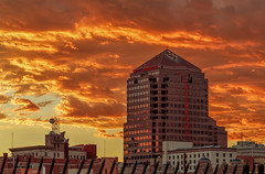 Downtown Sunset (Grant Condit) Tags: city sunset sky newmexico architecture clouds downtown cityscape cloudy albuquerque nm grantcondit