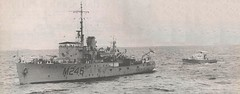 April 7, 1959: HMAS FREMANTLE tows stolen SBD1325 back to Fremantle after a desperate adventure - WAN.