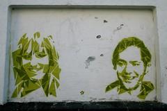 streetartbergen341 (motveggen) Tags: streetart stencil mann bergen argus portrett gatekunst stensil kvinne sjablong menneske streetartbergen motveggen