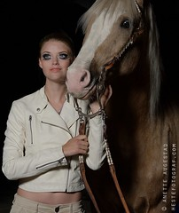 Palomino (Hestefotograf.com) Tags: light horse white fashion oslo norway model mare dress princess touch joy makeup norwegian pony prom gloves western equestrian stallion tenderness equine equus equipage palomino gelding kwpn