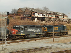 CSX Q679-21 1/21/14 Pic 2 (tjtrainz) Tags: atlanta tower ex train ga georgia pacific terminal southern sp helm interlocking leasing csx howell subdivision manifest espee 6341 hlcx yn3 840c sd40r q679