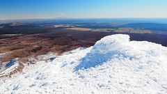 Looking west from the summit (blue polaris) Tags: park new winter snow ice landscape island volcano climb scenery mt crossing north olympus mount zealand alpine national summit tongariro ngauruhoe omd em5
