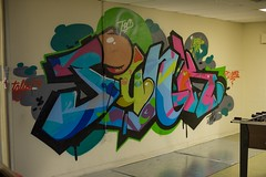 Junk on the wall (the real miami vice) Tags: music art graffiti dance junk paint break floor miami lace roots soul tuesday roller balance hiphop practice typical bboy oink rythm catalyst