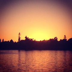 Sunset in Santa Cruz.