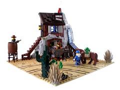 Bandit's Secret Hide-Out (Swan Dutchman) Tags: cowboy lego western bandit wildwest goldmine 6761 banditssecrethideout