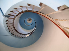 Jylland 2014 (hunbille) Tags: lighthouse stairs spiral denmark staircase fyr lyngvig lyngvigfyr fotocompetitionbronze