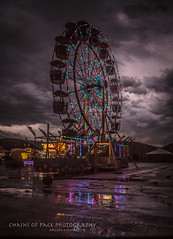 Carnival Dark (Chains of Pace) Tags: carnival storm reflection oklahoma rural unitedstates fair ferriswheel guymon