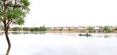 No Soccer Practice here Today - Rain in Mesa Arizona - 5708 (AZDew) Tags: park summer arizona phoenix rain weather canoe mesa us60 soccerpractice greenfieldroad deepwater retentionbasin stormrunoff arizonamonsoon hurricanenorbert