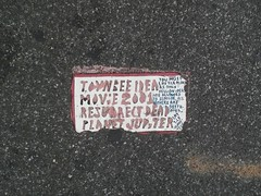 Toynbee Tile on 51st Street and 6th Ave 2014 NYC 7395 (Brechtbug) Tags: street new york 2001 city nyc music broken sign by radio tile dead idea hall theater manhattan may next severino midtown made tiles ave planet jupiter kubricks avenue toynbee named verna 6th crumbling sevy possibly 2014 reclusive 51st resurrect philadelphian 09082014