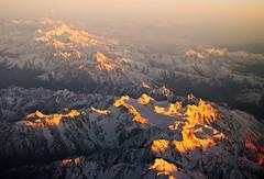 Over Zagros Mountains (Osdu) Tags: sunset mountains inflight iran flight zagrosmountains iranianmountains رشتهكوههایزاگرس جبالزغروس