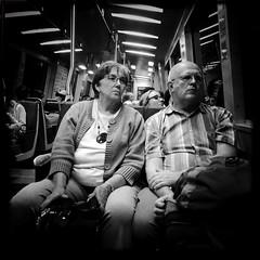 Onboarding (Jeremy Brooks) Tags: sanfrancisco california people blackandwhite bw usa blackwhite unitedstates bart transit iphone sanfranciscocounty hipstamatic