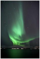 Aurora Borealis (agnieszka.falkowska) Tags: trip travel winter sky mountains green norway norge paradise arctic aurora atmospheric northernlights auroraborealis arcticcircle tromso tromsø phenomena northpole