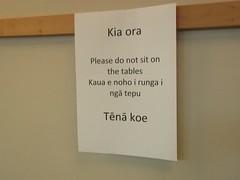 Kia Ora by Jill Hadfield (Map of the Urban Linguistic Landscape) Tags: newzealand sign translation auckland maori linguisticlandscape