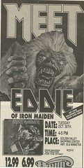 10/30/90 Iron Maiden (Meet Eddie!) @ Down In The Valley, Golden Valley, MN (Ad-Top) (NYCDreamin) Tags: eddie ironmaiden meetandgreet downinthevalley goldenvalleymn 103090 meeteddie