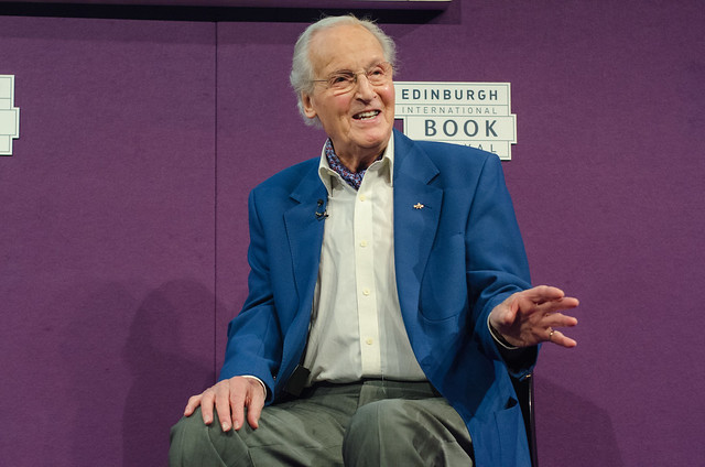 Nicholas Parsons at the Edinburgh International Book Festival
