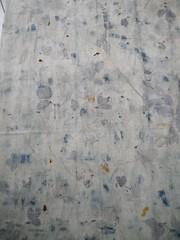 Jersey chanvre coton ecoprint rosier, murier, bleu de rose tremiere