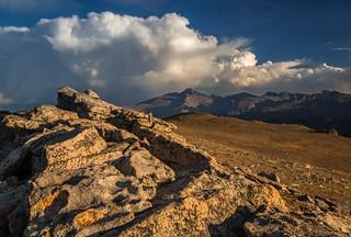 Storm over Longs Peak